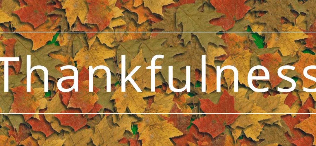 Thankfulness 2018